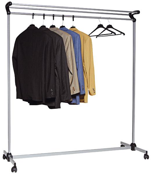 Pour stocker les vêtements de visiteurs à l'accueil ou pour un événementBarre transversale 2,5 cm ch...