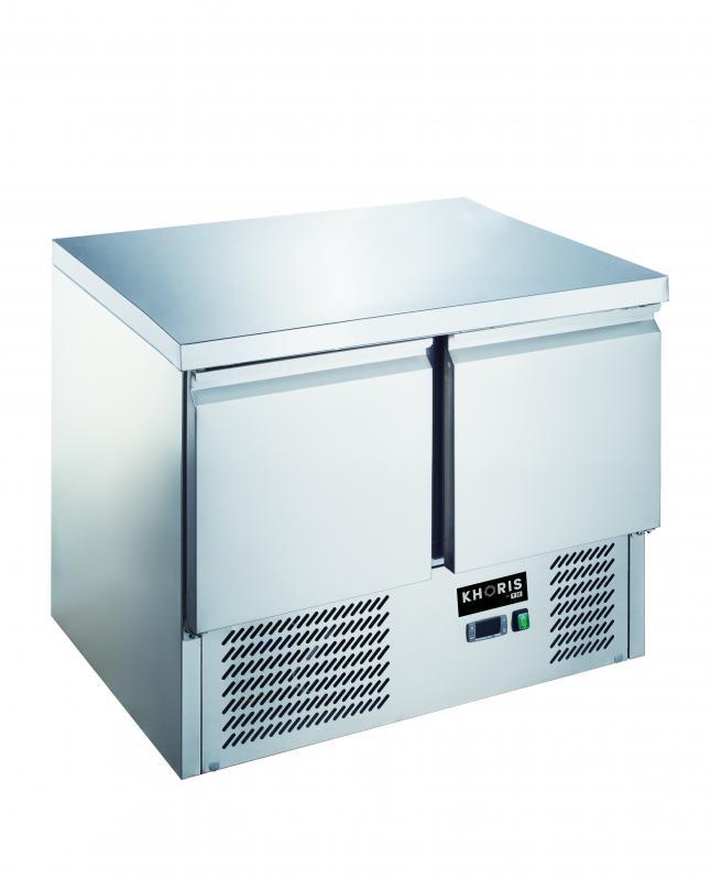 Masă frigorifică cu 2 uși din inox | KH-S901
