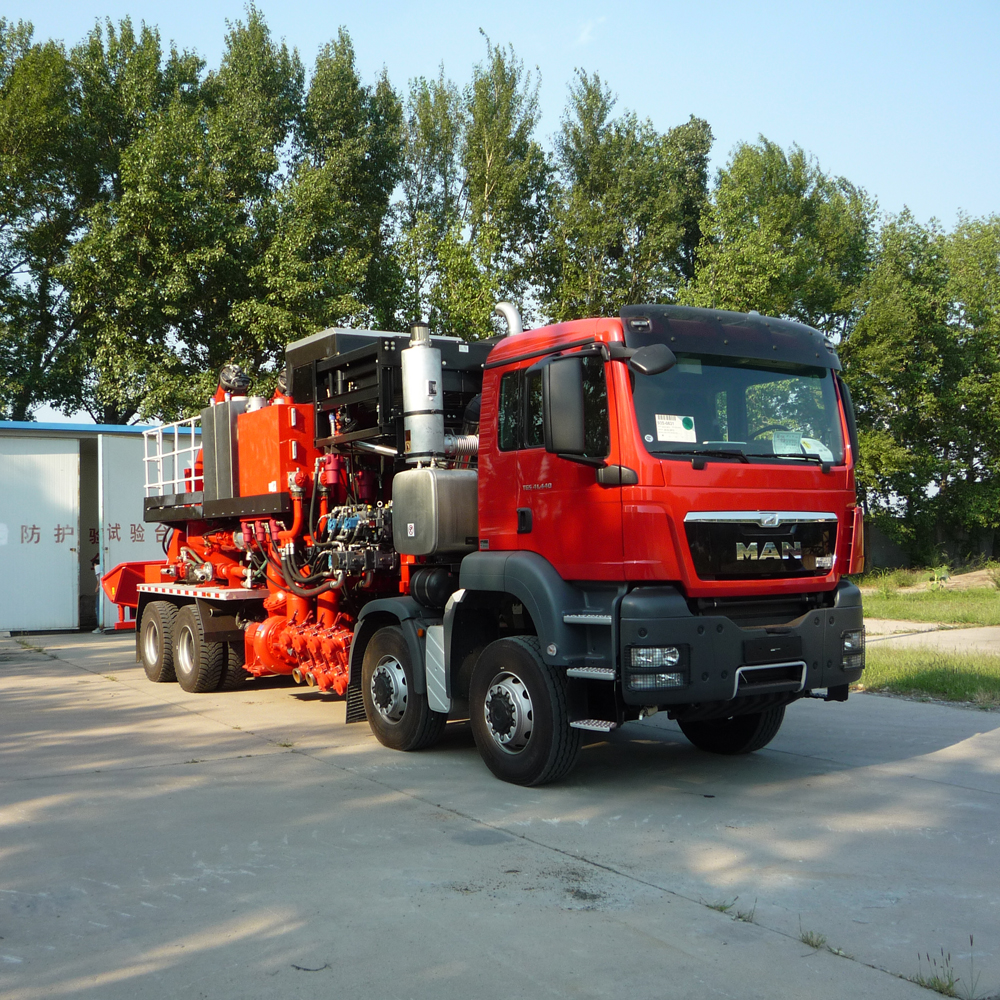 SANY SYN5314THS16 Fracturing Equipment Sand mixing truck Benefits& Features Precision: Electromagnet...