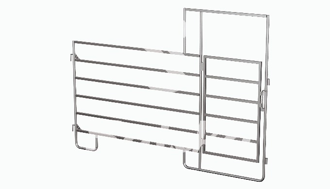 Cattle fixing panel (livestock or cattle fence) Size: 3.0m x 1.6m cattle fixing panel with gate (liv...
