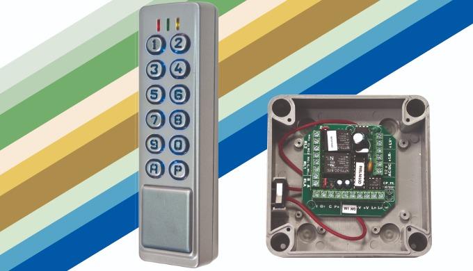 Gama CL (CL-2C, CL-2C-WDT, CL-2C-ELA+):Teclado 2 columnas para alarma y control de acceso