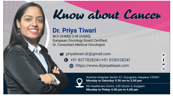 Dr. Priya Tiwari is Senior Consultant Medical Oncologist in Artemis Hospital. She is one of the best...