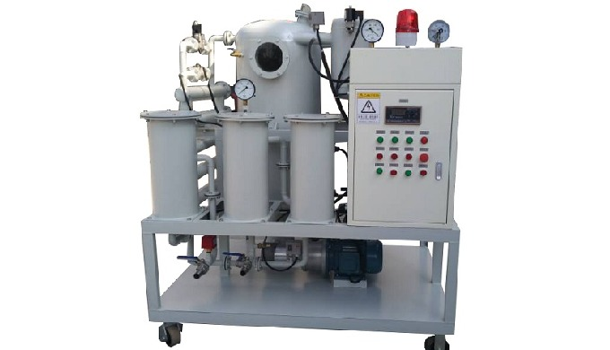 Double Stage High Efficiency Vacuum Oil Purifier Flow rate(L/H)18003000450060009000 Electric heating...
