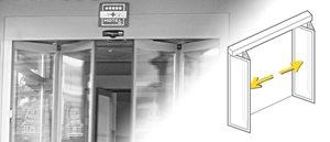 Die automatische Gilgen Faltflügeltür ist besonders geeignet für den Einbau in Korridoren und begren...