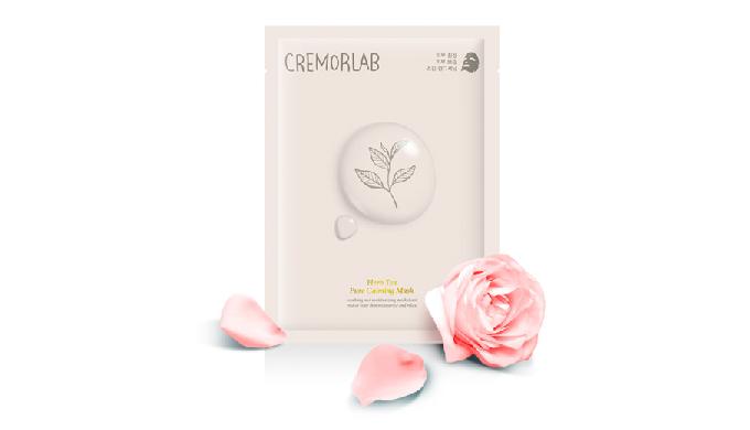 CREMORLAB HERB TEA PURE CALMING MASK_cotton sheet mask pack