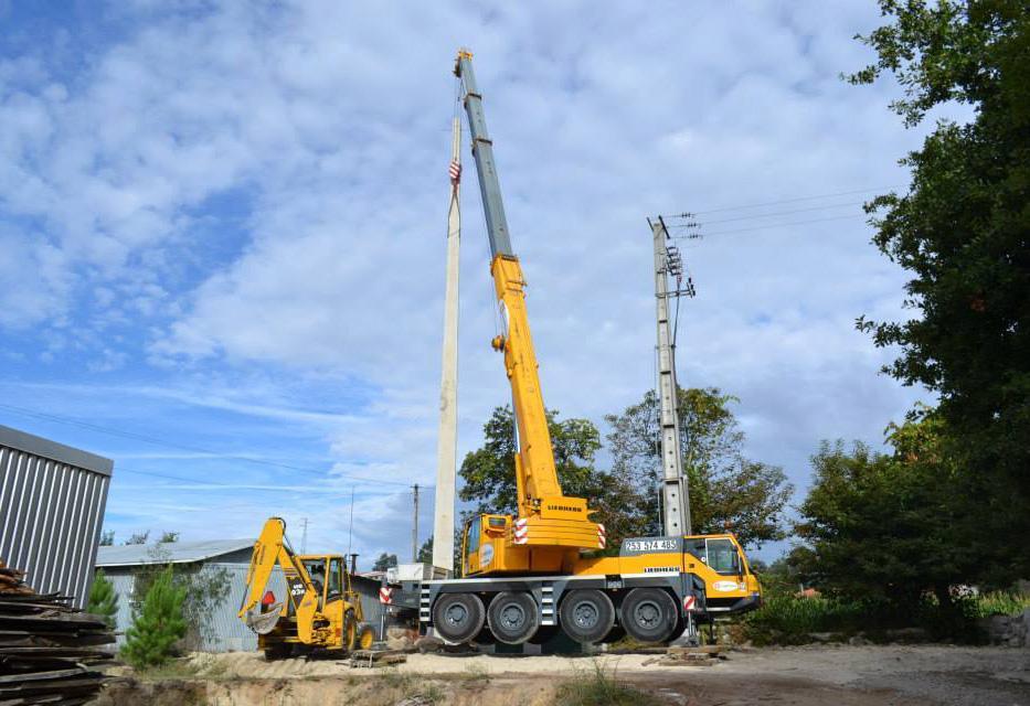 Aluguer de autogruas e camiões grua, desde 7 toneladas até 300 toneladas