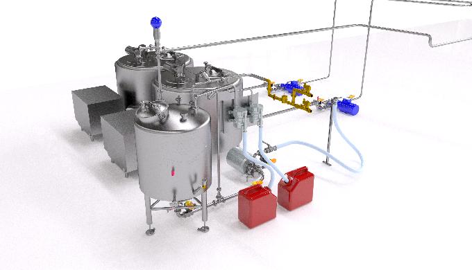 Sistemi di pulizia per la completa igienizzazione di cisterne e tubazioni, particolarmente adatti pe...
