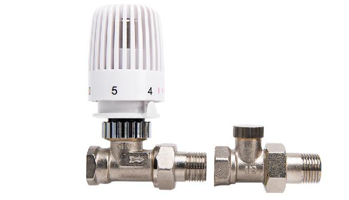 TRCD32W plastic thread Thermostatic radiator valves-Straight Nickel