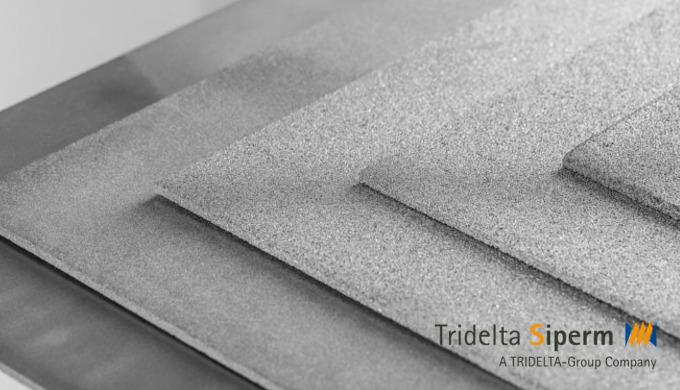 Werkstoff SIPERM® R hochporös Edelstahl AISI 316L / 1.4404 Temperaturbeständigkeit: 500 °C oxidieren...