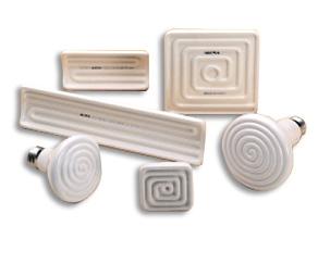 Emisores cerámicos de rayos infrarrojos. Principales aplicaciones: - Termoconformado - Embalaje con ...