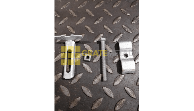 Grating fixing clips for FRP & Steel Gratings in required size and material quality.