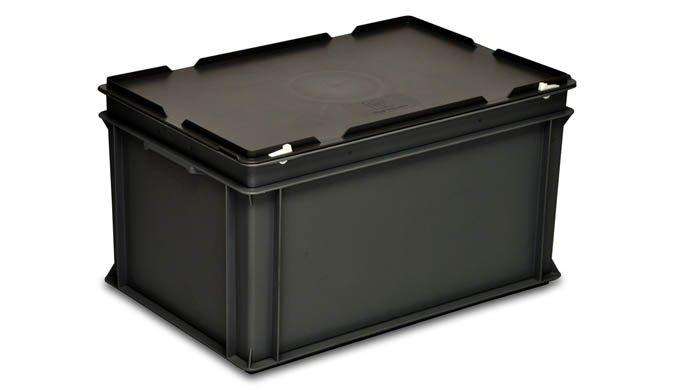 Elektronische Bauelemente sollten in Behältern oder auf Paletten aus elektrisch leitfähigem Kunststo...