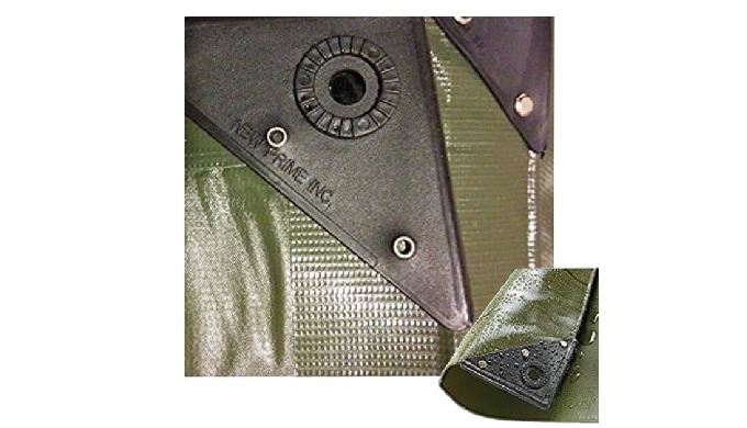 PVC tarps with plastic corner bars and rivets │ DESCRIPTION │ Weight : 140gr/m2 (±5%) 7 x 7/sq.inch,...