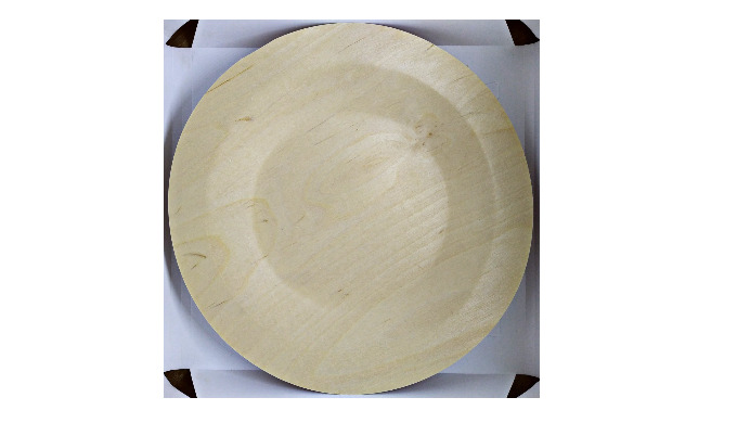 Birch Wood Plates Ø 230 mm, set 5 pcs