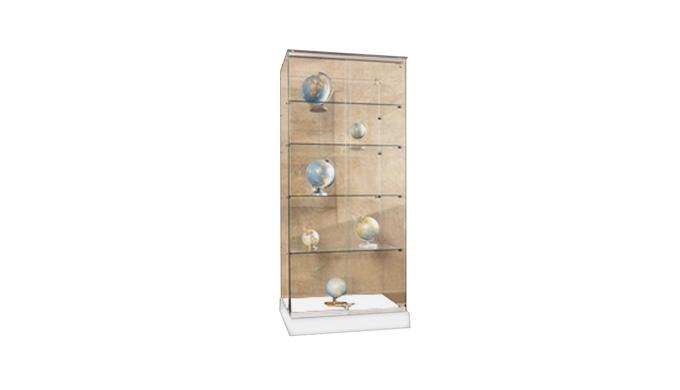 Transparente, pour la mise en valeur des objets exposés Fabrication 100% en verre Sécurit trempé épa...