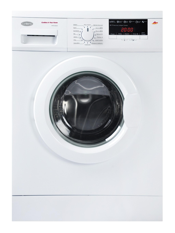 Předem plněná úzká pračka Goddess WFE1046D9S s elektronickým ovládáním nabízí 16 pracích programů v ...