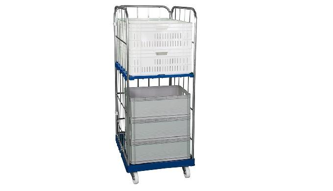 Kæmpe udvalg af rullecontainere, gitterbure, rullevogne samt trådbure til pluk, pak og distribution ...