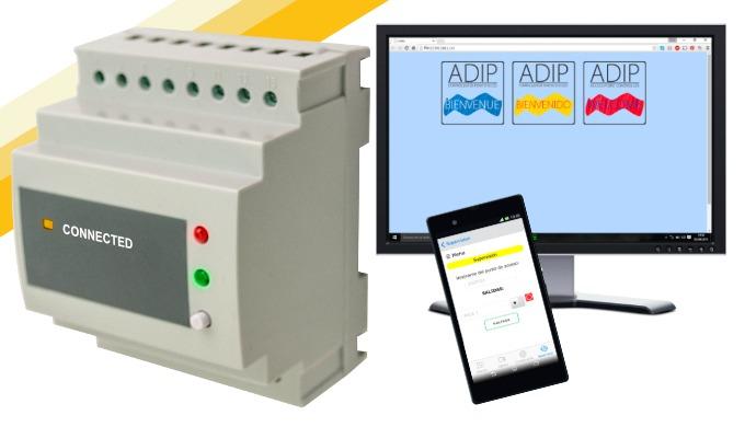 ADIP-DIN-WIFI: Controlador de puertas WiFi con webserver, app gratuita y 65.000 usuarios
