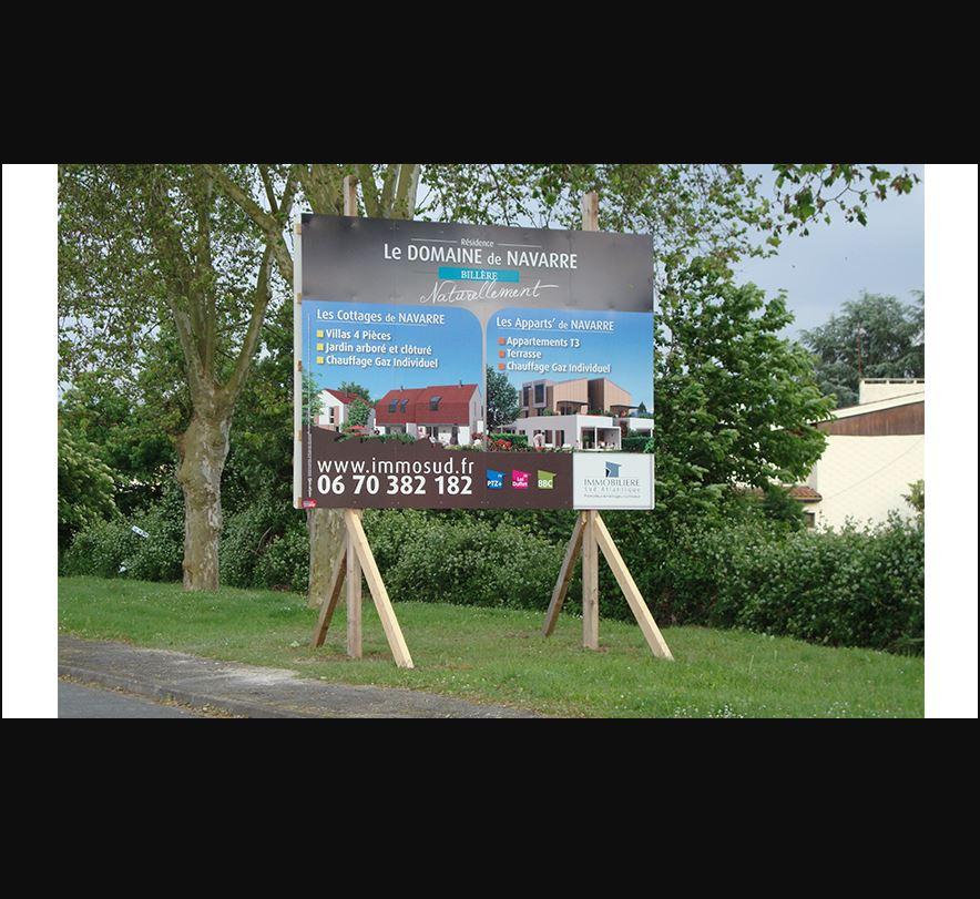 Panneau publicitaire Pano Sign'service