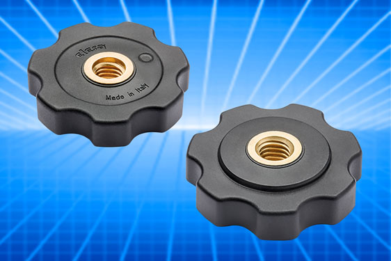 The Elesa GFL lobe nut enables adjustment of equipment mounted on threaded stems and may be used sin...