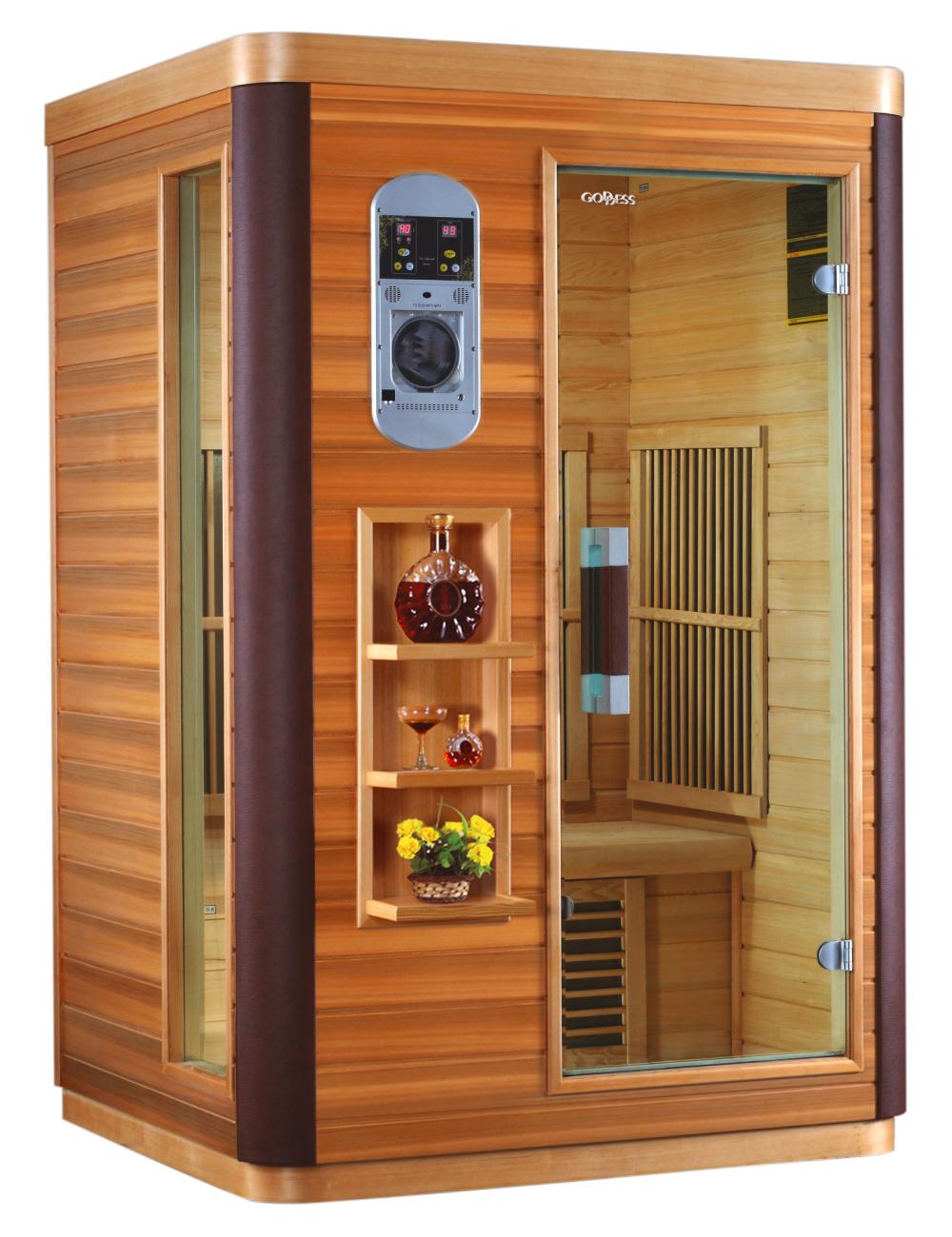 Domácí infrasauna Goddess LANZAROTE vyrobená z cedru a v luxusním provedení je určená pro dvě osoby....