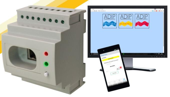 ADIP-DIN-RJ45: Controlador de puertas con webserver, app gratuita y 65.000 usuarios