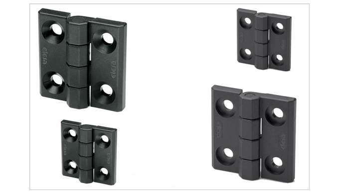 Elesa new CFMX hinges in high strength Supertechnopolymer