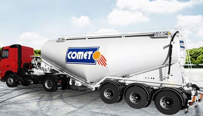La semi-remorque citerne à ciment COMET est disponible en plusieurs modèles et volumes. On distingue...