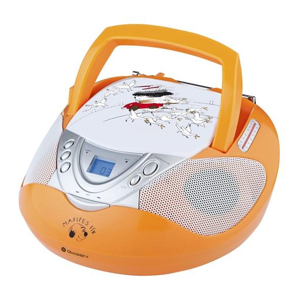 Do veselého designu s obrázky Maxipsa Fíka jsme zabalili CD přehrávač, který zvládá samozřejmě formá...