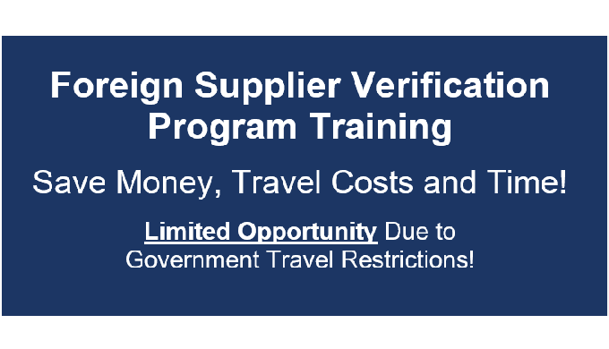 Foreign Supplier Verification Program