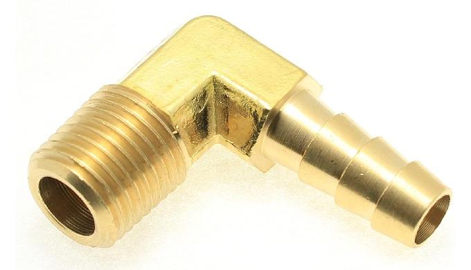 Single Side Barb Male Elbow Brass