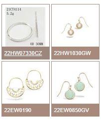 TAI PING France, fabricant et créateur de bijoux, vous présente une large gamme de boucles d'oreille...